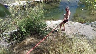 Tarzan's turn for a swim